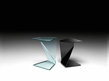 3 fiam glazen bijzettafel Sigmy design by Aquili Alberg