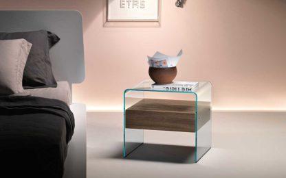 3 fiam glazen bijzettafen nachtkast Rialto Night design by CRS FIAM