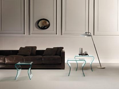 3 fiam glazen design bijzettafel charlotte tris design by Prospero Rasulo