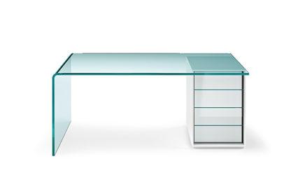 FIAM glazen design bureau RIALTO L cassettiera design by CRS Fiam