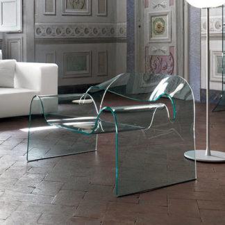 3 fiam glazen design stoel Ghost designm by Cini Boeri