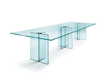 FIAM glazen design vergadertafel LLT OFX MEETING design by Dante O. Benini E Luca Gonzo