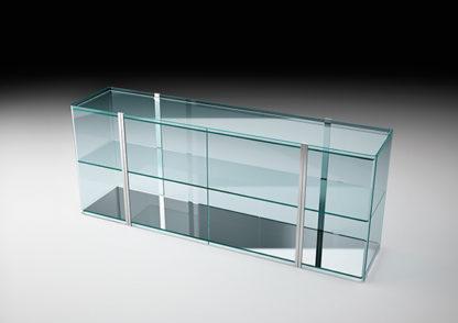 (3) fiam glazen design vitrine milo sideboard design by Ilaria Marelli