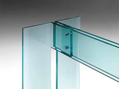 FIAM glazen eettafel LLT design by Dante O. Benini E Luca Gonzo
