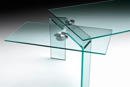 FIAM glazen eettafel Ray Plus design by Bartoli Design - detail foto