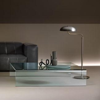 Vierkante Salontafel Met Glas.Fiam Glazen Salontafels Glazendesigntafel Nl