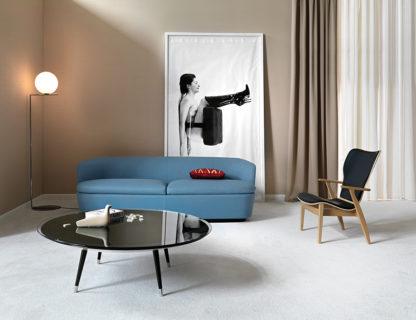 FIAM glazen salontafel Roy zwart glas design by Doriana E Massimiliano Fuksas (2)