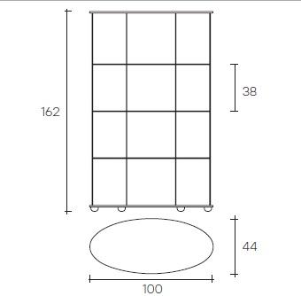 3.Fiam Glazen Design Vitrine PAlladio Uno Design By Vittiro Livi