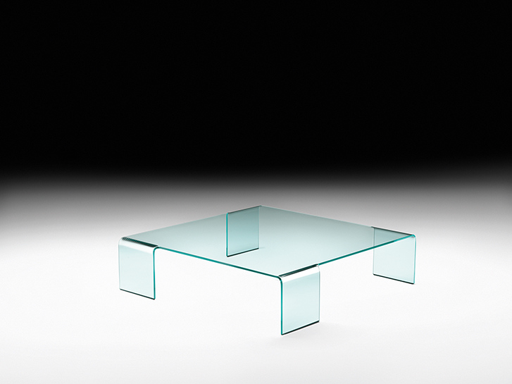 Vierkante Salontafel Met Glas.Fiam Glazen Salontafel Neutra Vierkant