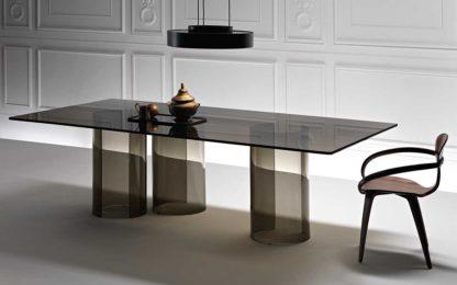 FIAM design glazen eettafel Luxor 240x80xh75 design by Rodolfo Dordoni - brons glas