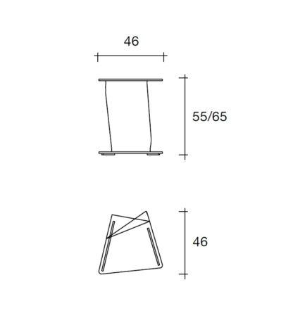 4 fiam glazen bijzettafel Sigmy design by Aquili Alberg - technische details