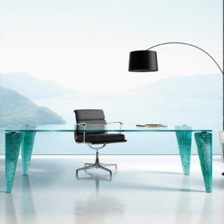 FIAM glazen design bureau - vergadertafel atlas scrivania by Danny Lane