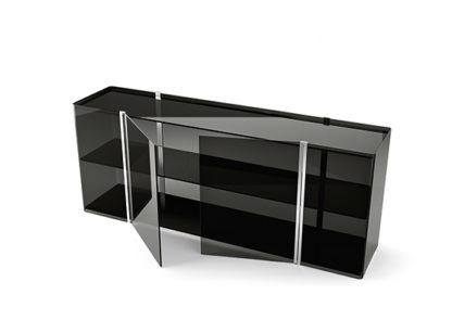 (4) fiam glazen design vitrine milo sideboard design by Ilaria Marelli