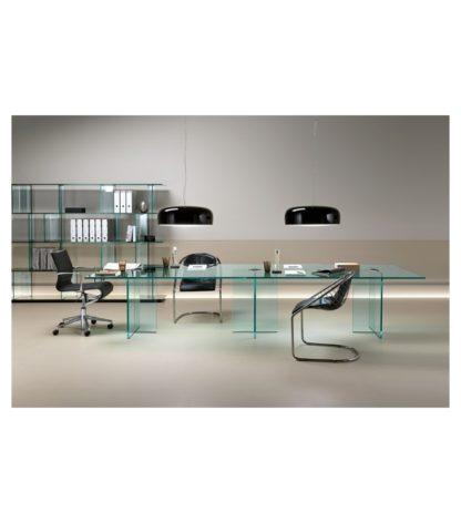 FIAM glazen design vergadertafel LLT OFX MEETING design by Dante O. Benini E Luca Gonzo