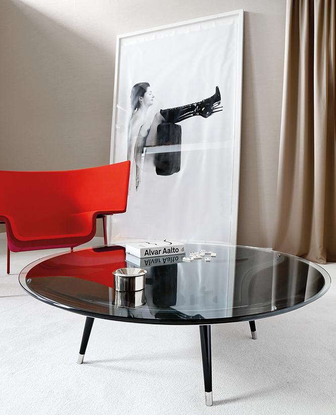 Salontafel Zwart Glas Design.Fiam Glazen Salontafel Roy Glazendesigntafel Nl