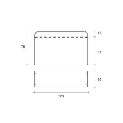 4 fiam glazen side table Elementare details