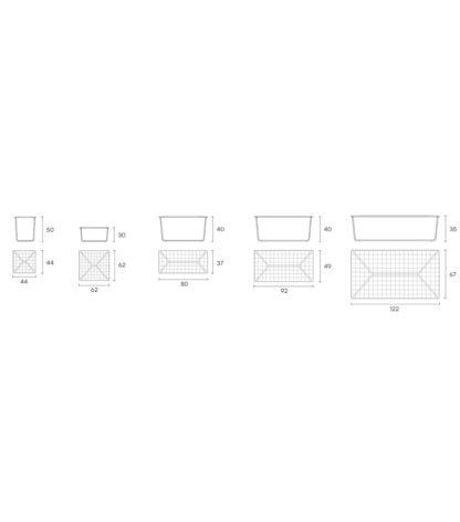 5 FIAM design glazen salontafel Pixel geruit design by Vitorio Livi details