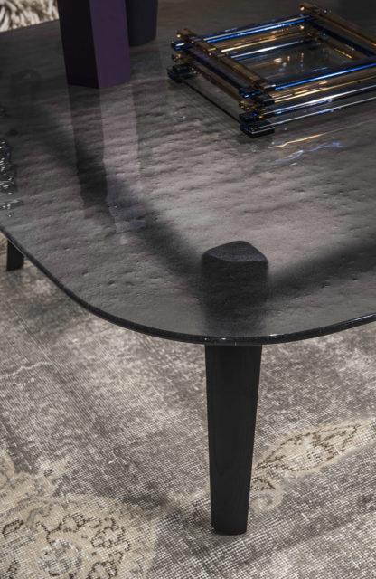 5 fiam design glazen salontafel Magma (grijs) - design by Patrick Jouin