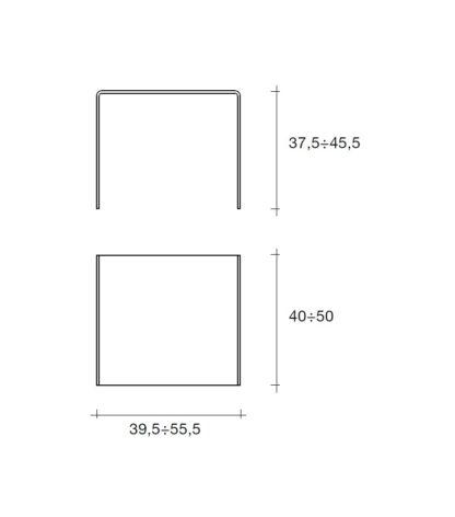 5 fiam glazen bijzettafel rialto tris technische details