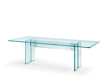 FIAM glazen bureau LLT 220x110 - design by Dante O. Benini E Luca Gonzo