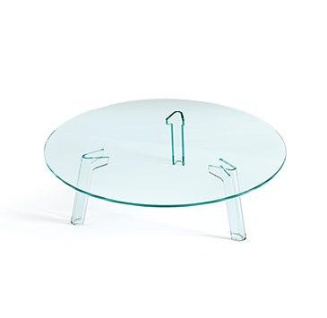 FIAM glazen salontafel Flute design by Paolo Lucidi E Luca Pevere