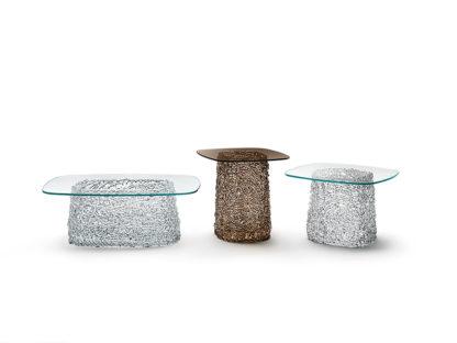 FIAM glazen salontafel Macrame design by Paolo Lucidi E Luca Pevere