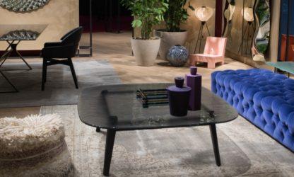 5a fiam design glazen salontafel Magma (grijs) - design by Patrick Jouin