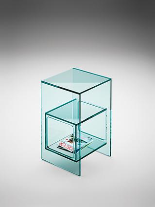 6 fiam glazen design hoektafel Magique (extra helder) design by Studio Klass