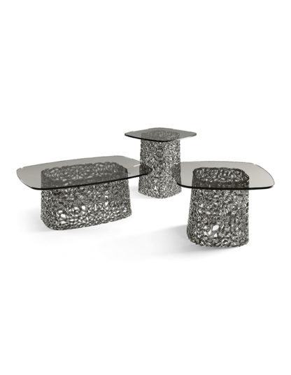 6 fiam glazen salontafel Macrame grijs design by Paolo Lucidi E Luca Pevere