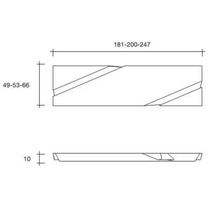 6a fiam design spiegel Wing design by Daniel Libeskind