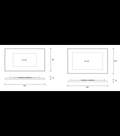 FIAM glazen design spiegel mirage tv