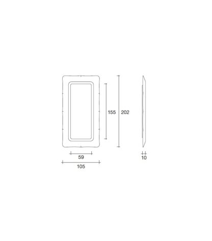 FIAM design spiegel Dorian by Massimo Iosa Ghini technische details
