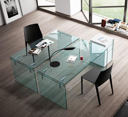 FIAM glazen bureau Bright design by CRS FIAM