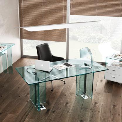 FIAM glazen design bureau - vergadertafel LLT OFX EXECUTIVE (1) detail