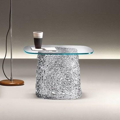 fiam glazen design hoektafel macrame (8) vierkant design by Lucidi & Pevere