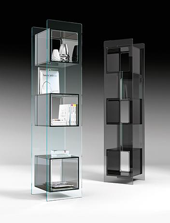 fiam glazen design vitrine MAGIQUE TOTEM (2) zwart