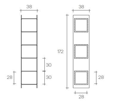 fiam glazen design vitrine MAGIQUE TOTEM (3) technische specificatie