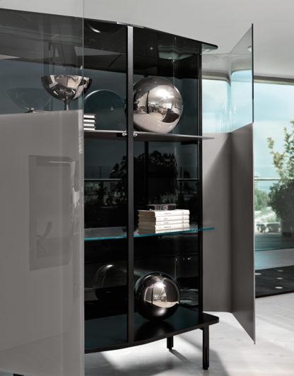 fiam glazen design vitrine PLIE (6) zilver