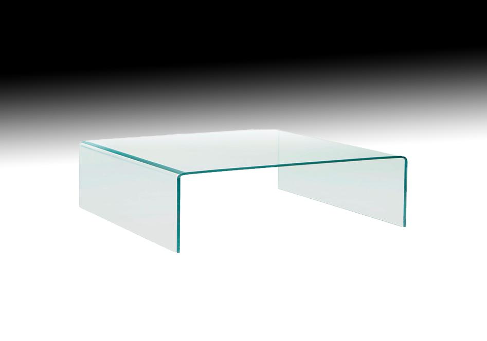 Glazen Tafels Salontafels.Fiam Glazen Salontafel Rialto Square Vierkant