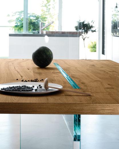 FIAM glazen eettafel LLT 240x100x74 design by Dante O. Benini E Luca Gonzo