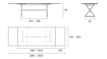 (5) fiam design glazen eettafel hype extenable design by studio klass