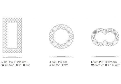 FIAM design spiegel pop - technische details